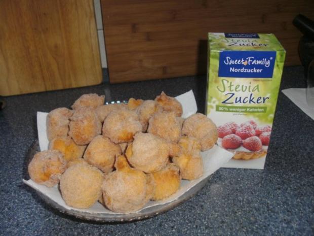 Quarkbällchen mit Stevia-Zucker - Rezept