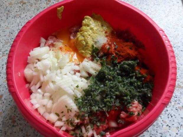 Aufläufe/Gratins: Kohlrabi-Kartoffel-Auflauf mit Käse-Hackbällchen - Rezept - Bild Nr. 4