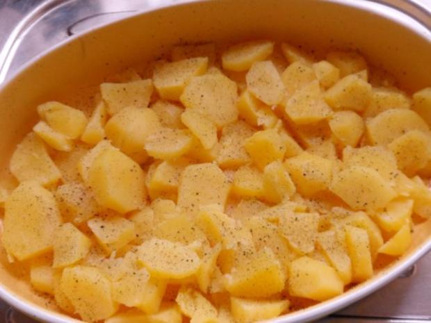 Aufläufe/Gratins: Kohlrabi-Kartoffel-Auflauf mit Käse-Hackbällchen - Rezept - Bild Nr. 12