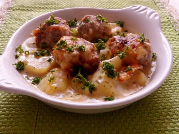 Aufläufe/Gratins: Kohlrabi-Kartoffel-Auflauf mit Käse-Hackbällchen - Rezept - Bild Nr. 18