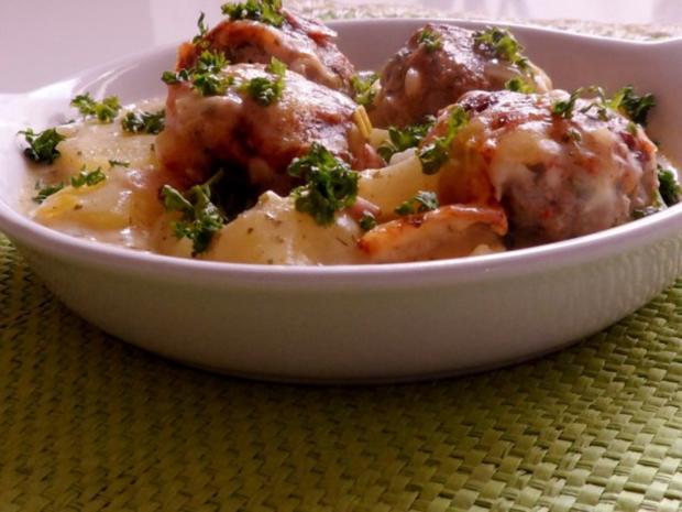 Aufläufe/Gratins: Kohlrabi-Kartoffel-Auflauf mit Käse-Hackbällchen - Rezept - Bild Nr. 19