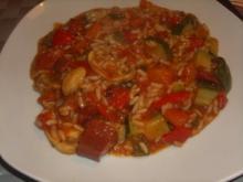 Reis-Gemüse-Sucuk Pfanne - Rezept