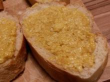 Parmesan-Senf-Baguette - Rezept