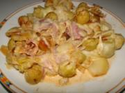 Rosenkohl überbacken mit 2erlei Käse, Helau und alaaf, das ist eine gute Grundlage - Rezept