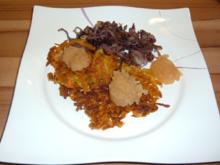 Kartoffelpuffer mit Möhren - Rezept