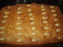 Grießkuchen in Karamellsirup - Rezept