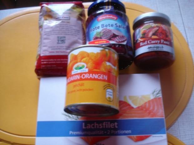 Lachsfilet mit roten Linsen und rote Bete - Rezept - Bild Nr. 2