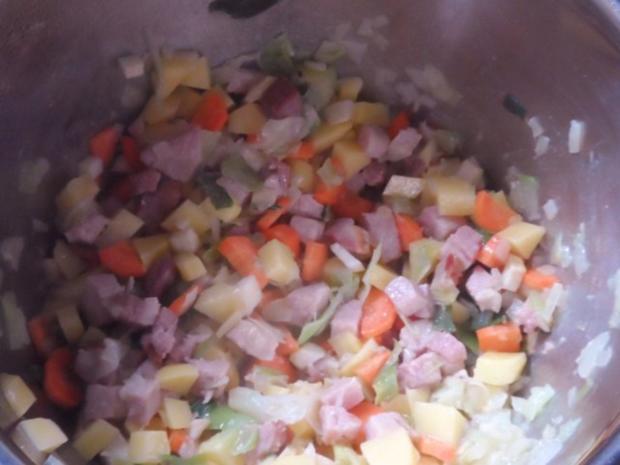 Eintöpfe & Suppen: Bunter Bohneneintopf mit Kasseler und Cabanossi - Rezept - Bild Nr. 6