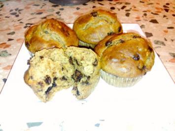 Erdnussbutter-Bananen Muffins - Rezept