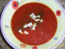 Suppen & Eintöpfe: Tomatensuppe mit Mozzarella - Rezept