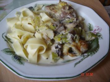 Medaillions mit Pilz-Porree-Gemaüse - Rezept