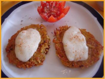 Rezept: Kartoffelrösti mit Mozzarella und Tomatensalat