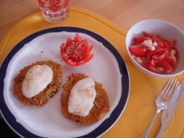 Kartoffelrösti mit Mozzarella und Tomatensalat - Rezept - Bild Nr. 14