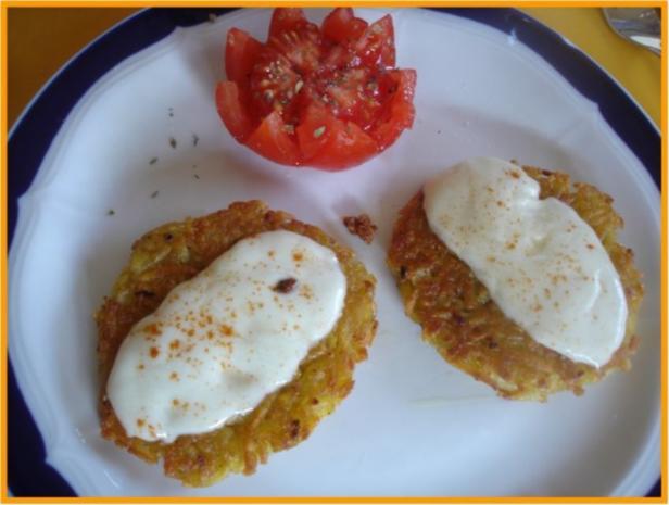 Kartoffelrösti mit Mozzarella und Tomatensalat - Rezept - Bild Nr. 15