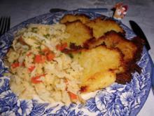 Rahmgemüse auf Bambes (Kartoffelpuffer)>> - Rezept
