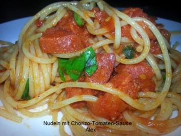 Nudeln mit Chorizo-Tomaten-Sauce - Rezept