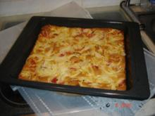 Speckpfannkuchen vom Blech - Rezept