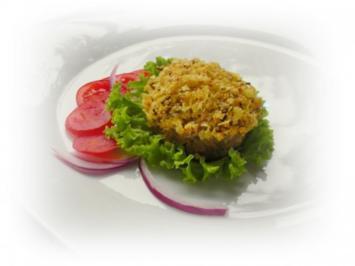 Quinoa-Hackfleisch-Muffins mit Cornflakes-Streusel - Rezept