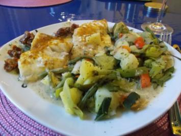 Fisch: Chakalaka-Zander mit gedämpften Gemüse - Rezept