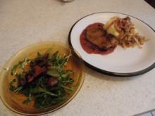 Leber mit Preiselbeer Soße an Kartoffelstampf - Rezept