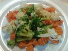 Vegan : Gemüse gedämpft ... in KokosÖl geschwenkt - Rezept