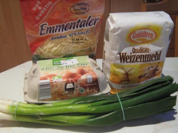 Käse-Lauch-Pfannkuchen - Rezept - Bild Nr. 2