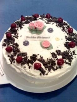 Kirsch-Nuss-Torte - Rezept