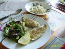 Fisch: würziger Blattsalat & Dorschfilet - Rezept