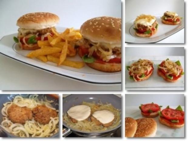 Hausgemachte Hamburger mit Pommes (ړײ) - Rezept - Bild Nr. 3