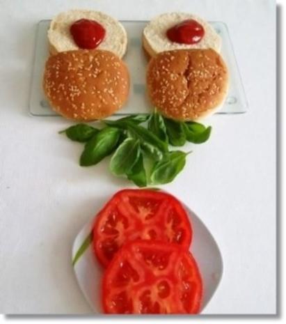 Hausgemachte Hamburger mit Pommes (ړײ) - Rezept - Bild Nr. 10
