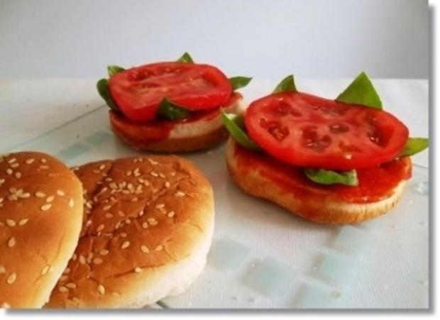 Hausgemachte Hamburger mit Pommes (ړײ) - Rezept - Bild Nr. 12