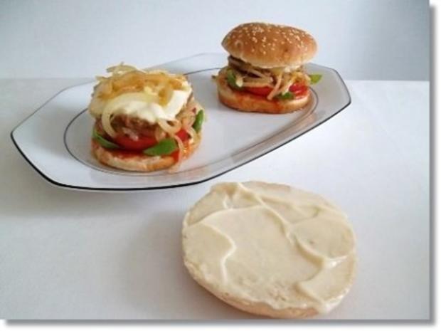 Hausgemachte Hamburger mit Pommes (ړײ) - Rezept - Bild Nr. 15