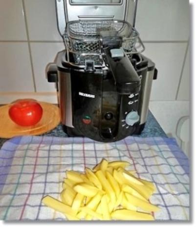 Hausgemachte Hamburger mit Pommes (ړײ) - Rezept - Bild Nr. 17