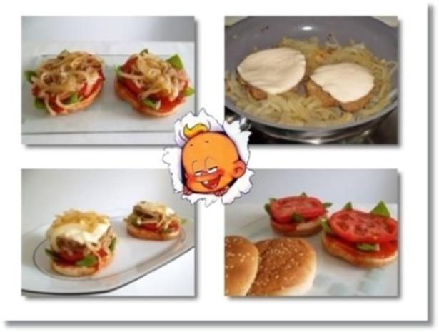 Hausgemachte Hamburger mit Pommes (ړײ) - Rezept - Bild Nr. 19