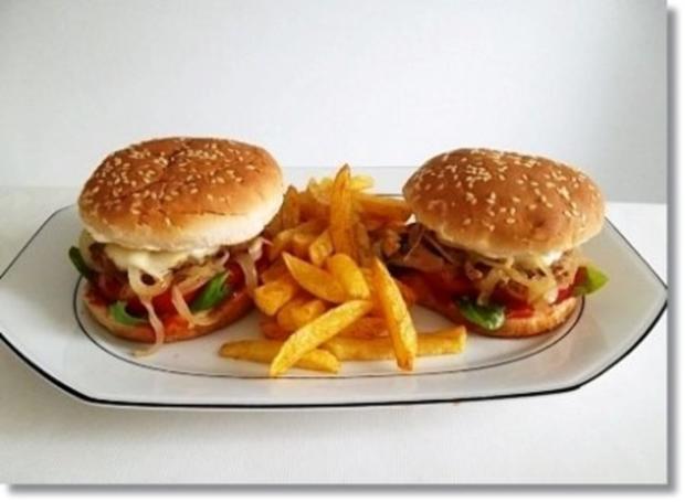 Hausgemachte Hamburger mit Pommes (ړײ) - Rezept - Bild Nr. 20