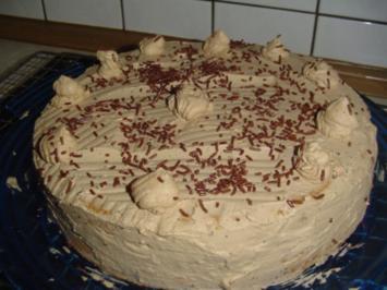 Mokka- Sahne- Torte - Rezept