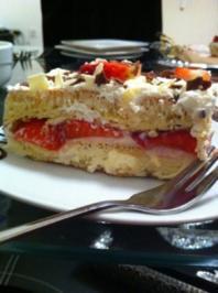 Schnelle Erdbeer-Sahne-Vanille-Schnittchen - Rezept
