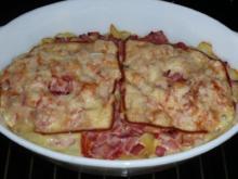 Nudelauflauf mit Kochschinken und Tomaten - Rezept