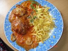 Pizzafrikadellen in Tomatenrahm - Rezept