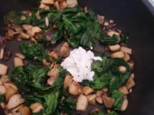 Kräuterseitlinge mit Spinat - Rezept