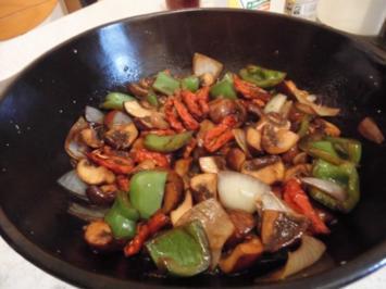 Mariniertes Gemüse mit Rucola Salat - Rezept