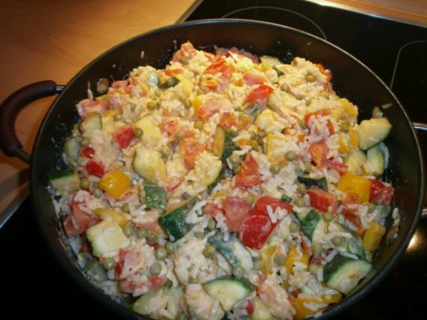 Bunte Reispfanne - Rezept