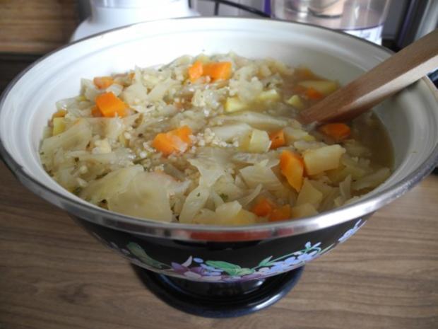 Vegan : Kohlsuppe mit Graupen - Rezept - Bild Nr. 2