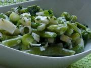 Salat: Frühlingsfrischer Apfel-Bohnen-Salat mit Zitronen-Sahne-Dressing - Rezept