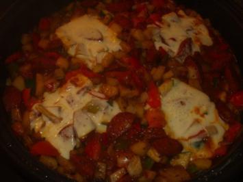 Rezept: Gemüsepfanne mit Sucuk