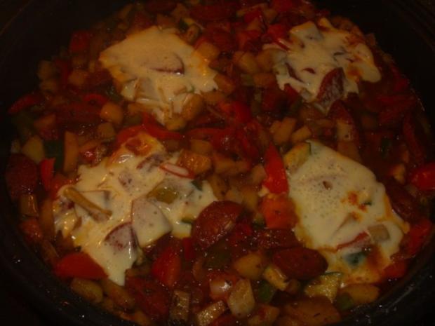 Gemüsepfanne mit Sucuk - Rezept