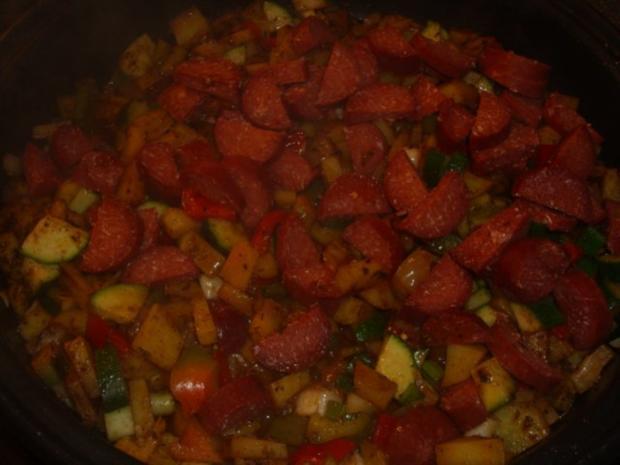 Gemüsepfanne mit Sucuk - Rezept - Bild Nr. 4