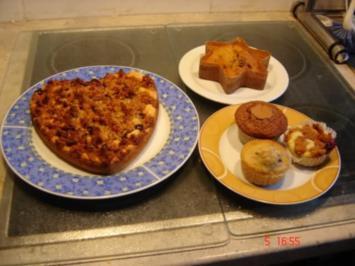 Buttermilch-Muffinf mit Streusel - Rezept