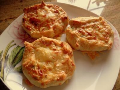Zucchini-Ricotta-Fladen - Rezept