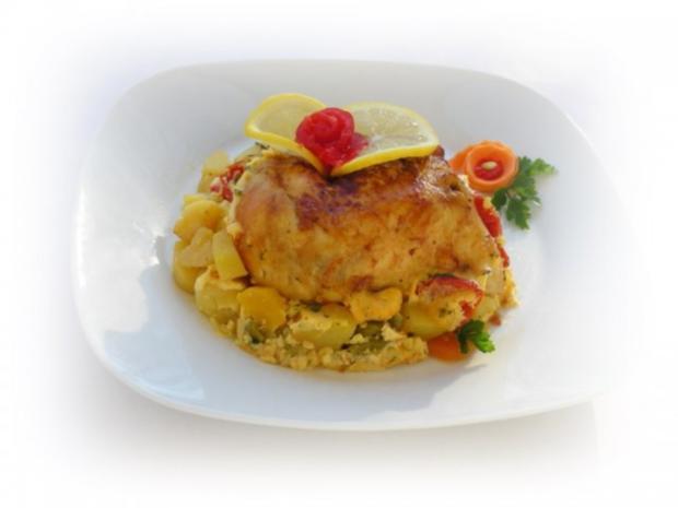 Bulgarisches Gratin  mit Hähnchenfleisch und Gemüse - Rezept - Bild Nr. 3